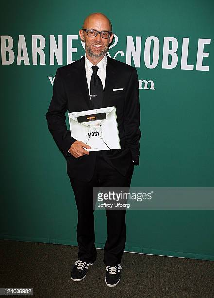 """Musician Moby promotes """"Destroyed"""" at Barnes & Noble Union Square on September 7, 2011 in New York City."""