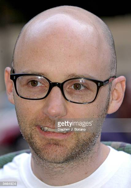 Musician Moby stands for photos before the start of the Planned Parenthood 'Stand Up For Choice' Extravaganza on April 24 2004 in Washington DC The...
