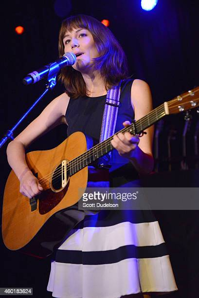 Musician Molly Tuttle performs on stage at The Roxy Theatre on December 8 2014 in West Hollywood California
