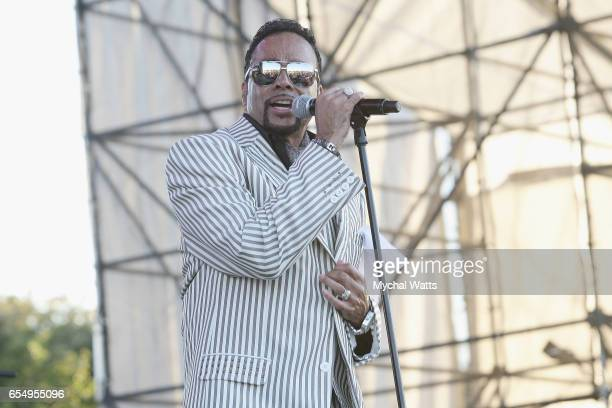 Musician Morris Day The Time performs on stage at The 12th Annual Jazz In The Gardens Music Festival Day 1 at Hard Rock Stadium on March 18 2017 in...