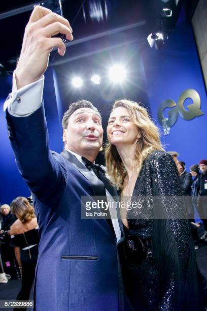 Musician Mousse T and model Eva Padberg arrive for the GQ Men of the year Award 2017 at Komische Oper on November 9 2017 in Berlin Germany