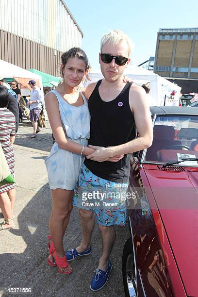 Musician Mr Hudson and Guest attend the 2012 Vauxhall Art Car Boot Fair at the Old Truman Brewery Brick Lane on May 27 2012 in London England