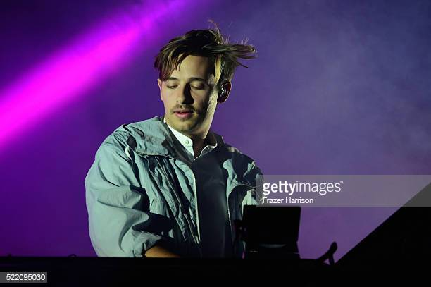 Musician Musician Flume performs onstage during day 3 of the 2016 Coachella Valley Music And Arts Festival Weekend 1 at the Empire Polo Club on April...