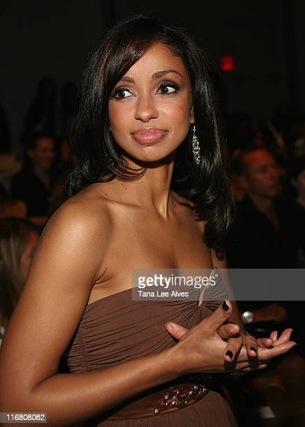 Musician Mya at the Terexov fashion show during MercedesBenz Fashion Week Spring 2008 at The Salon Bryant Park on September 6 2007 in New York City