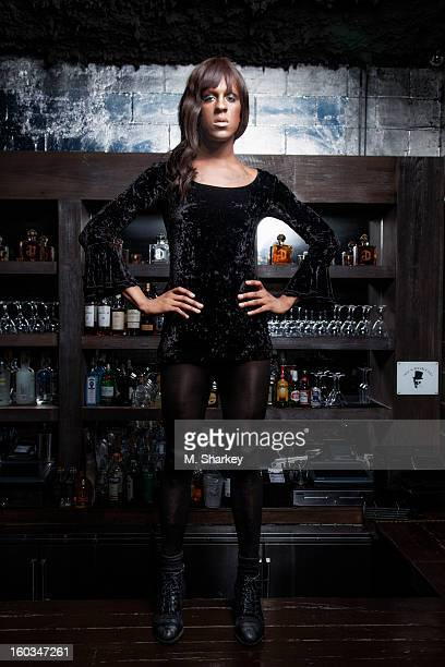 Musician Mykki Blanco is photographed for Out Magazine on August 21 2012 in the Electric Room in the Dream Downtown Hotel in New York City PUBLISHED...