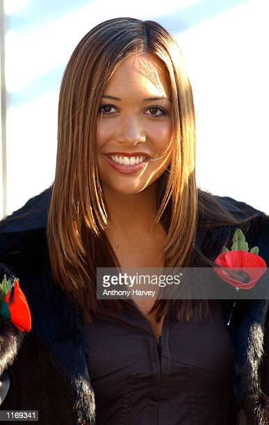 Musician Myleene from the British pop band ''Hear'say attends the launch of the ''Royal British Legion's 2001 Poppy Appeal'' October 25 2001 in...