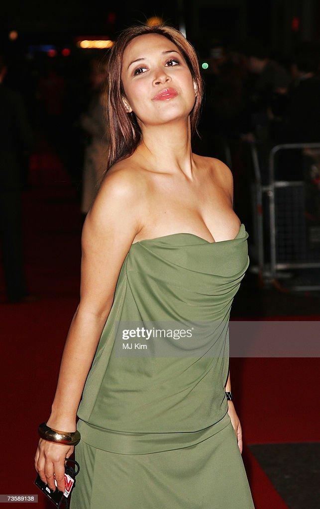 Musician Myleene Klass arrives at the UK Premiere of '300' at Vue West End, Leicester Square on March 15, 2007 in London, England. Based on the work of graphic novelist Frank Miller, creator of 'Sin City', '300' relates to the 480 B.C. Battle of Thermopylae.