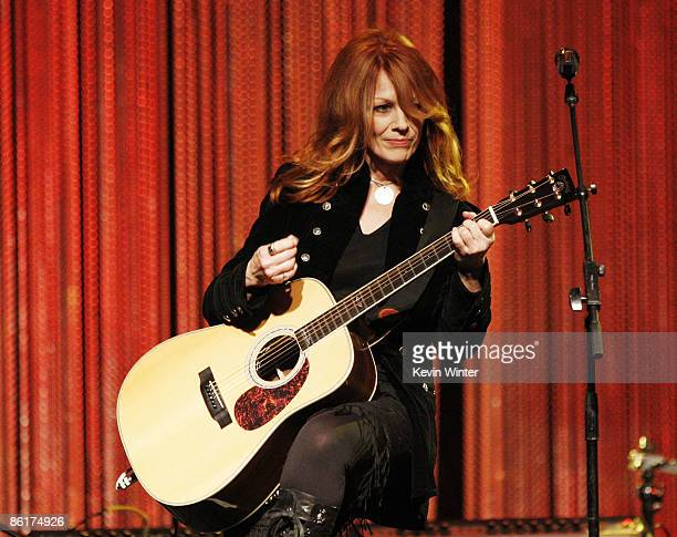 Musician Nancy Wilson of the rock band Heart performs onstage at the 26th Annual ASCAP Pop Music Awards at the Renaissance Hollywood Hotel on April...