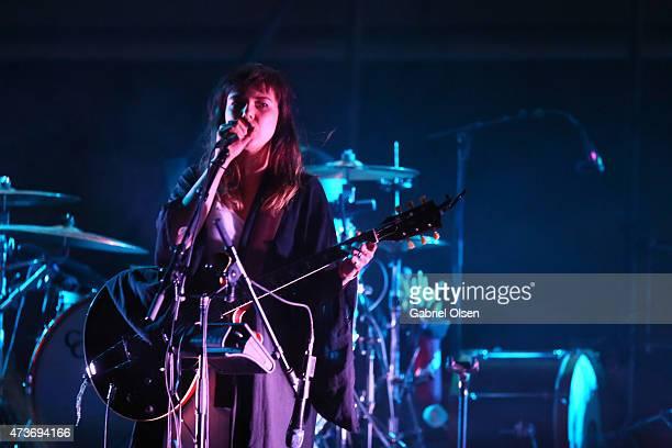 Musician Nanna Bryndis Hilmarsdottir of Of Monsters and Men performs onstage at the KROQ Weenie Roast Y Fiesta 2015 at Irvine Meadows Amphitheatre on...