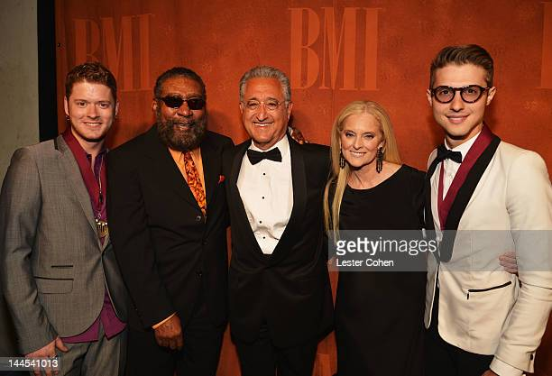 Musician Nash Overstreet songwriter hall of fame inductee Brian Holland BMI President and CEO Del Bryant Vice President and General Manager...