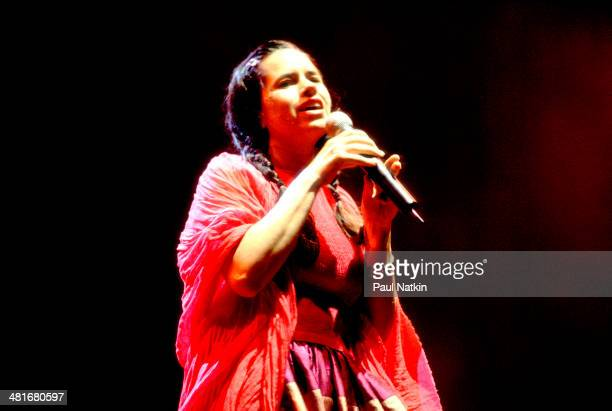 Musician Natalie Merchant performs onstage Chicago Illinois August 15 1998