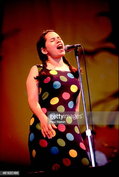 Musician Natalie Merchant performs onstage Chicago Illinois June 27 1996