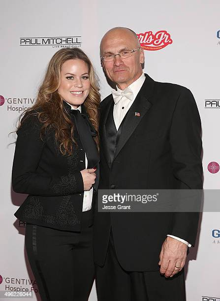 Musician Natalie Noone and Andy Puzder attend the Dream Foundation's 14th Annual Celebration of Dreams Gala held at Bacara Resort Spa on November 7...