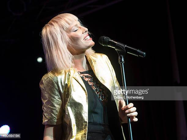Musician Natasha Bedingfield performs during the Rock In A Free World at Highline Ballroom on September 28 2015 in New York City