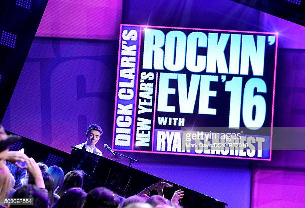 Musician Nathan Sykes performs onstage at Dick Clark's New Year's Rockin' Eve with Ryan Seacrest 2016 on December 31 2015 in Los Angeles CA