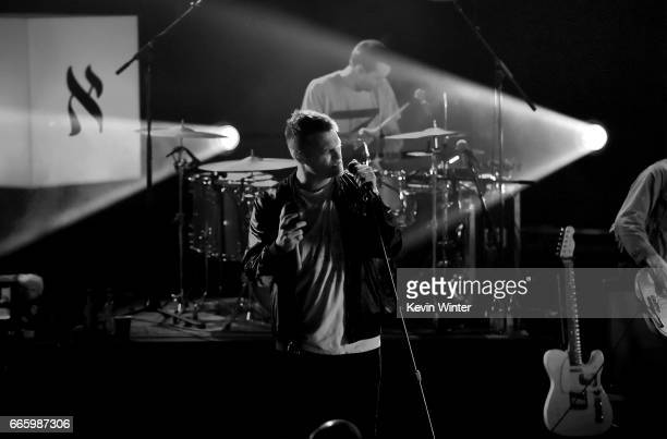 Musician Nathan Willett of Cold War Kids performs onstage with iHeartRadio LIVE at iHeartRadio Theater on April 7 2017 in Burbank California