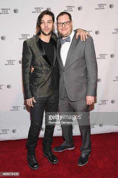Musician Navarone Garibaldi and producer Peter Pietrangeli attend the premiere of Shut Up And Drive during the 2015 Tribeca Film Festival at Chelsea...