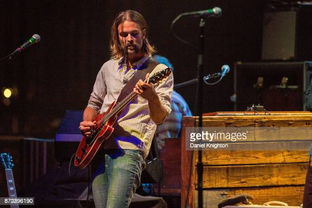Musician Neal Casal of Hard Working Americans performs on stage at San Diego Civic Theatre on November 9 2017 in San Diego California