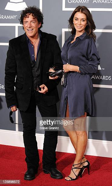 Musician Neal Schon and Ava Fabian arrive at The 53rd Annual GRAMMY Awards held at Staples Center on February 13, 2011 in Los Angeles, California.