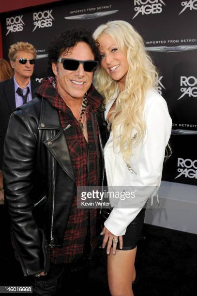 Musician Neal Schon and Michaele Salahi arrive at the premiere of Warner Bros Pictures' 'Rock of Ages' at Grauman's Chinese Theatre on June 8 2012 in...