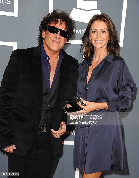 Musician Neal Schon and model Ava Fabian arrive at The 53rd Annual GRAMMY Awards held at Staples Center on February 13 2011 in Los Angeles California
