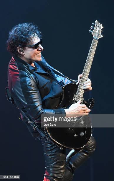 Musician Neal Schon of Journey performs live onstage at Nippon Budokan arena on February 7 2017 in Tokyo Japan
