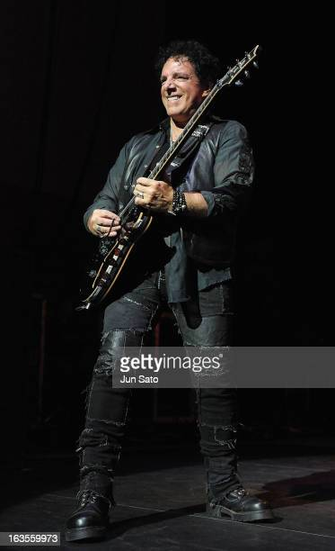 Musician Neal Schon of Journey performs onstage at the International Convention Center on March 12 2013 in Osaka Japan