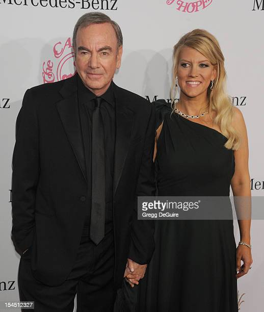 Musician Neil Diamond and wife Katie McNeil arrive at the 26th Anniversary Carousel Of Hope Ball presented by MercedesBenz at The Beverly Hilton...