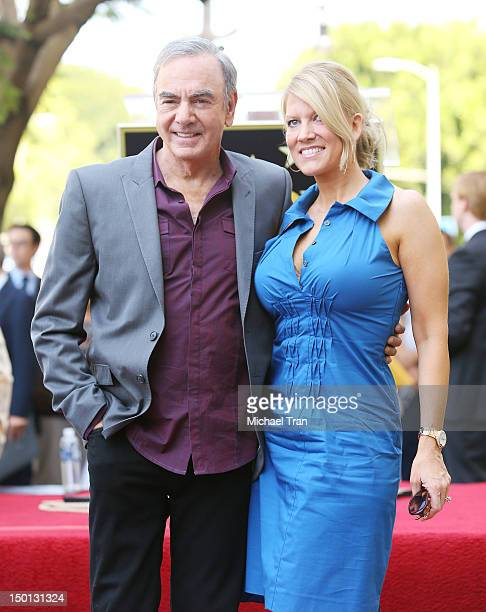 Musician Neil Diamond and wife Katie McNeil attend the ceremony honoring him with a Star on The Hollywood Walk of Fame held in front of the famed...