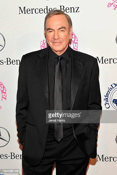 Musician Neil Diamond arrives at MercedesBenz presents The Carousel Of Hope on October 20 2012 in Los Angeles California