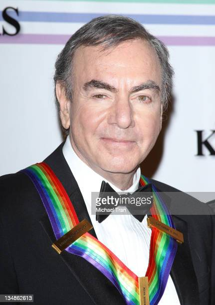 Musician Neil Diamond arrives at the 34th Kennedy Center Honors held at the Kennedy Center Hall of States on December 4 2011 in Washington DC