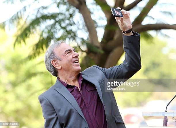 Musician Neil Diamond attends the ceremony honoring him with a Star on The Hollywood Walk of Fame held in front of the famed Capitol Records building...