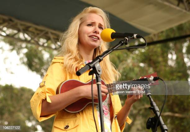 Musician Nellie McKay performs onstage during the 2008 Outside Lands Music And Arts Festival held at Golden Gate Park on August 23, 2008 in San...