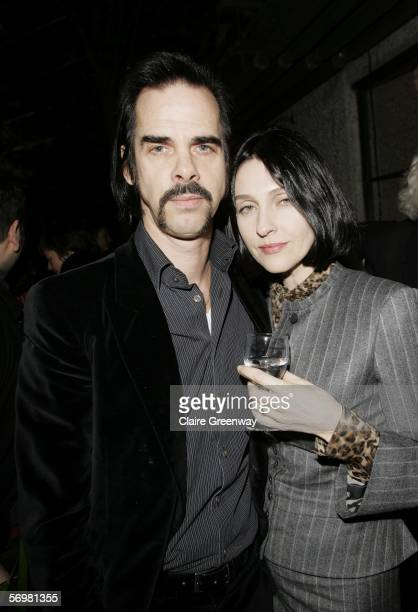 Musician Nick Cave and his wife Susie Bick attend the opening gala screening of The Proposition as part of The London Australian Film Festival the...