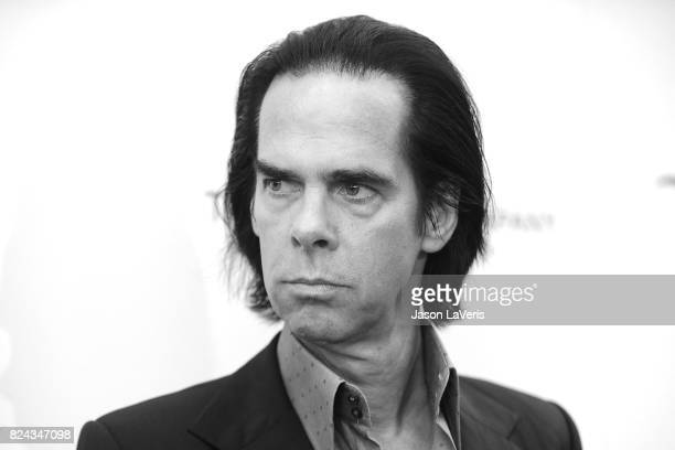 Musician Nick Cave attends the premiere of 'Wind River' at The Theatre at Ace Hotel on July 26 2017 in Los Angeles California