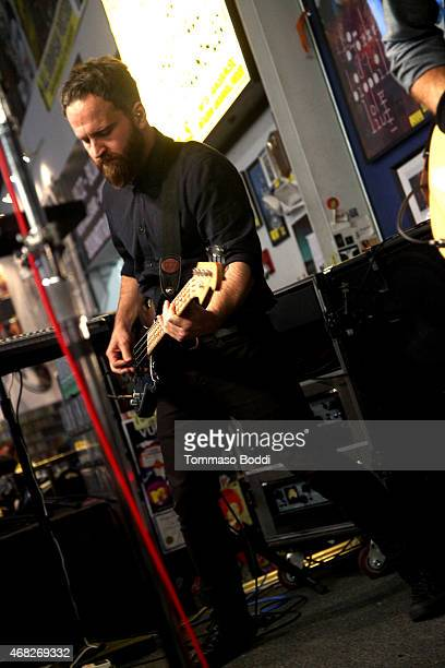 Musician Nick Harmer of Death Cab For Cutie perorms at Amoeba Music for the release of their new album 'Kintsugi' held at Amoeba Music on March 31...