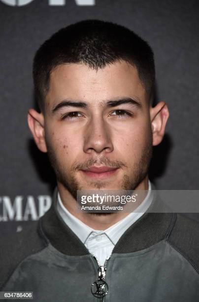 Musician Nick Jonas arrives at Roc Nation's PreGRAMMY Brunch on February 11 2017 in Los Angeles California