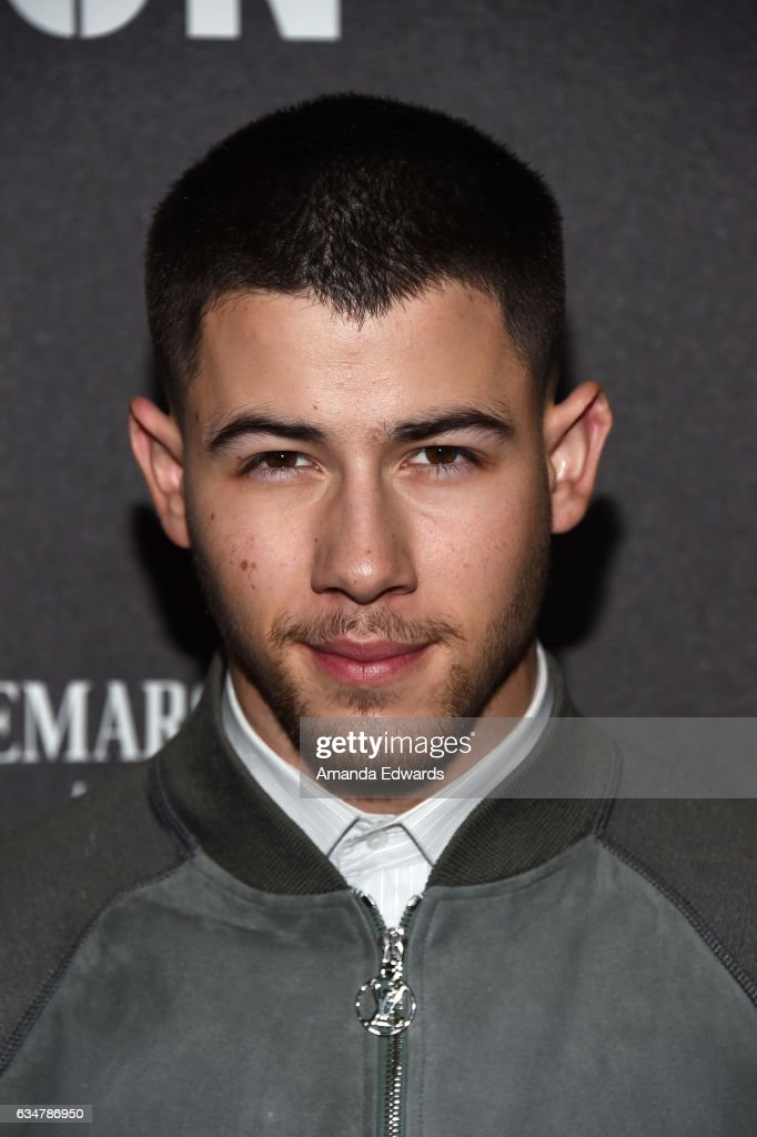 Musician Nick Jonas arrives at Roc Nation's Pre-GRAMMY Brunch on February 11, 2017 in Los Angeles, California.