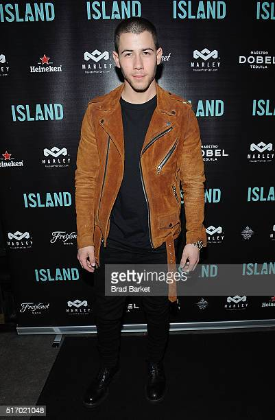 Musician Nick Jonas attends Island Records' 'Island Life' Second Anniversary Party At Avenue NYC at Avenue on March 22 2016 in New York City