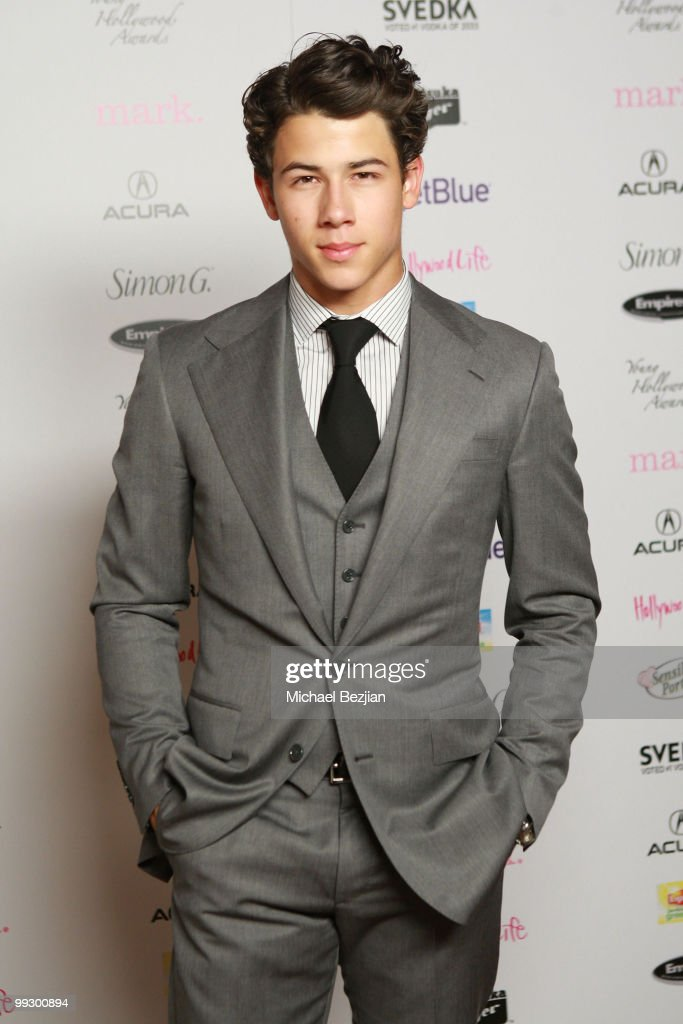 Musician Nick Jonas backstage during the 12th annual Young Hollywood Awards sponsored by JC Penney , Mark. & Lipton Sparkling Green Tea held at the Ebell of Los Angeles on May 13, 2010 in Los Angeles, California.