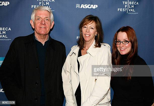 Musician Nick Lowe Tribeca Film Festival CoFounder Jane Rosenthal and musician Ingrid Michaelson pose during the Tribeca ASCAP Music Lounge at the...