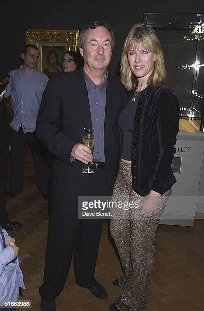 Musician Nick Mason and wife Lynette at the CLIC Charity Auction hosted by Eddie and Marie Jordan at Christie's on 22nd October 2001 in London