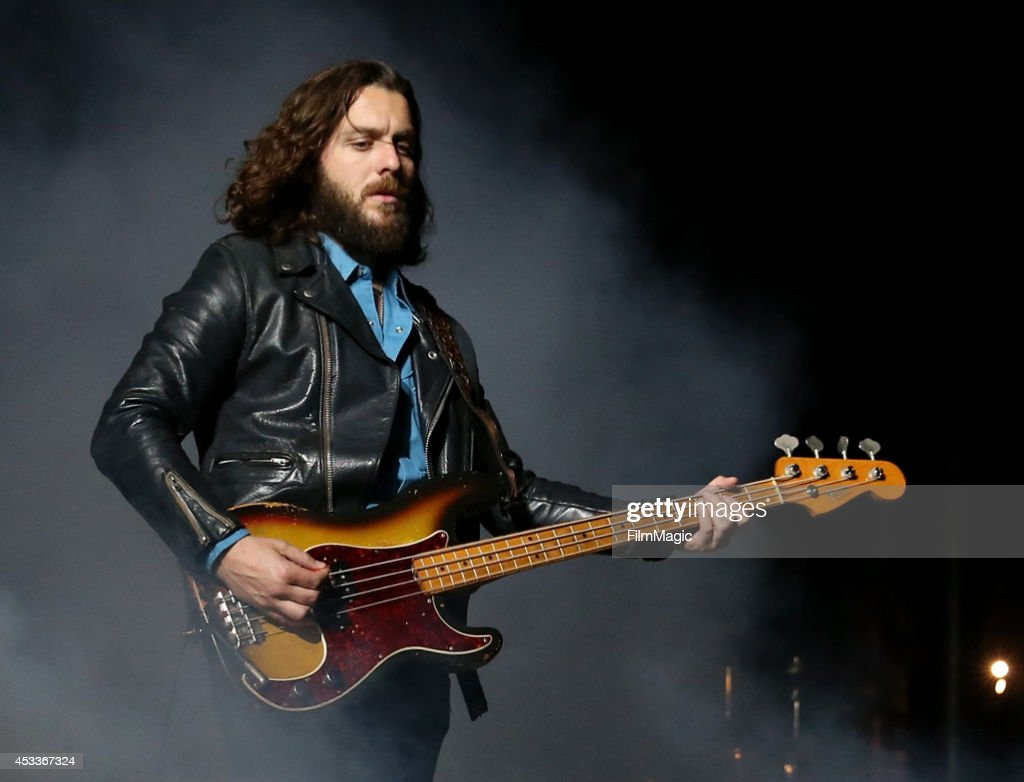 Musician Nick O'Malley of Arctic Monkeys performs at the Twin Peaks Stage during day 1 of the 2014 Outside Lands Music and Arts Festival at Golden Gate Park on August 8, 2014 in San Francisco, California.