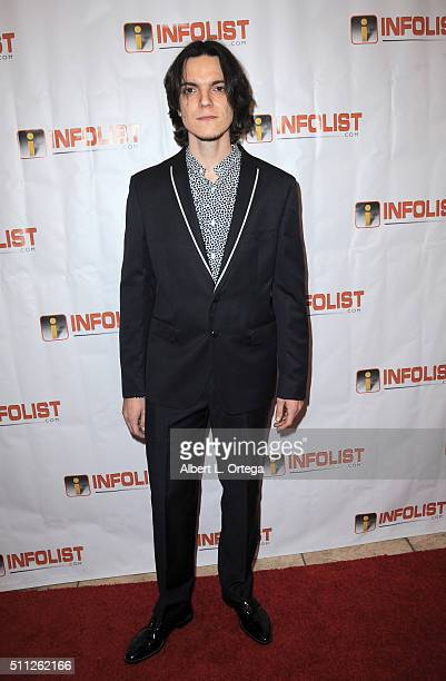 Musician Nick Pellegrini arrives for the InfoList PreOscar Soiree And Birthday Party for Jeff Gund held at OHM Nightclub on February 18 2016 in...