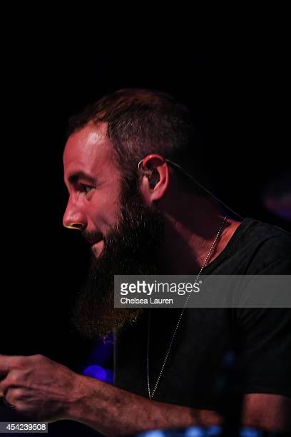 Musician Nik Hughes of Youngblood Hawke performs at The Greek Theatre on August 26 2014 in Los Angeles California