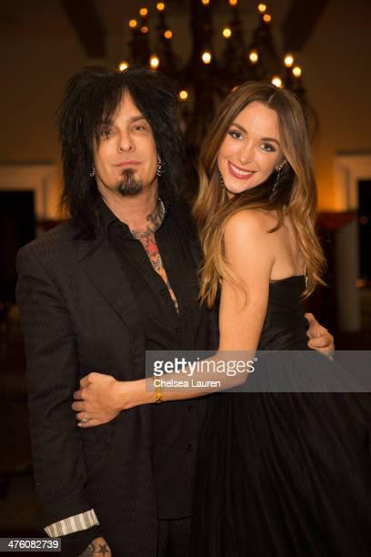 Musician Nikki Sixx and model Courtney Bingham attend their prewedding bash on March 1 2014 in Los Angeles California
