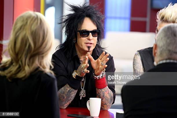 Musician Nikki Sixx Appears On The Morning Show at The Morning Show Studios on March 3, 2016 in Toronto, Canada.