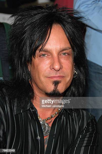 Musician Nikki Sixx at Rosa Cha by Amir Slama Spring 2008 during MercedesBenz Fashion Week at the Tent Bryant Park on September 8 2007 in New York...
