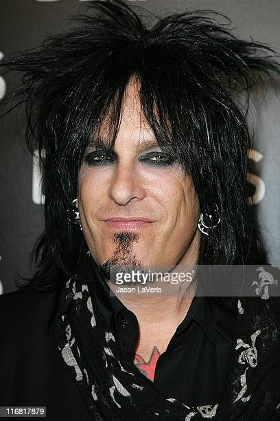 Musician Nikki Sixx attends the Details Mavericks of 2008 Cocktail Party on March 20 2008 in Beverly Hills California