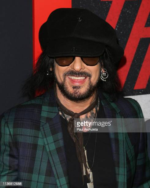 Musician Nikki Sixx attends the Premiere Of Netflix's 'The Dirt' at ArcLight Hollywood on March 18 2019 in Hollywood California